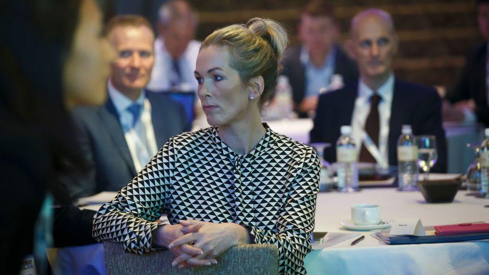 Innovasjon Norge-toppsjef Anita Krohn Traaseth under en konferanse i Singapore i 2016.