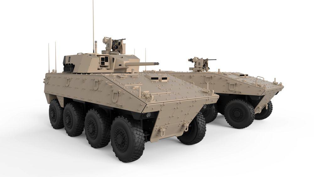 Kongsberg skal blant annet levere fjernstyrte tårn (MCT-40) på pansrede Nexter-kjøretøy.