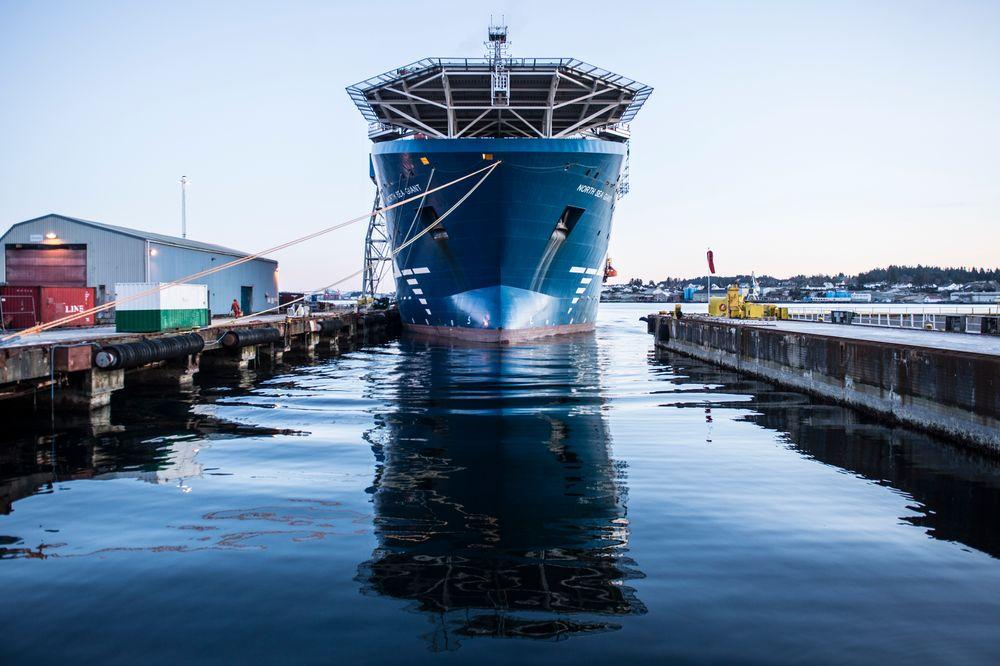 North Sea Giant ble bygget om på Aibel-verftet i Haugesund.