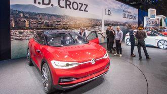 En av Volkswagens elbilkonsepter, ID Crozz, vist frem i Geneve,
