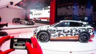 Fra visningen av Audi E-tron Quattro i Genève.
