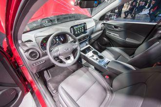 Interiør fra Hyundai Kona.