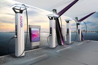 Ionity bygger 350 kilowatt CCS-hurtigladere i hele Europa.