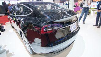 Tesla Model 3 utstilt i Genève.