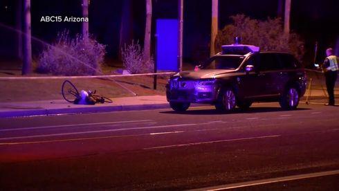 Den selvkjørende bilen fra Uber var involvert i en dødsulykke i mars.