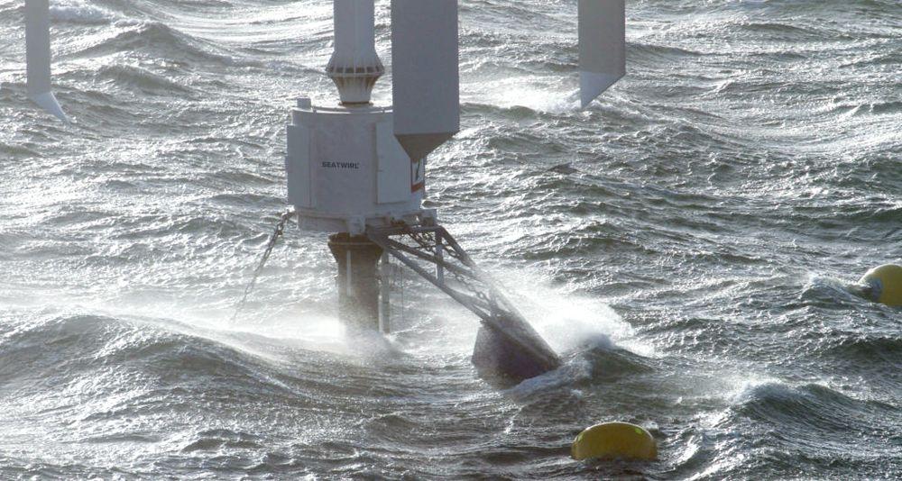 Nye turbinblader: Det svenske konseptet, Seatwirl med vertikale vindmølleblader. : Seatwirl mener de kan bygge og drive disse flytende vindmøllene langt billigere enn andre konsept som hittil er utviklet.