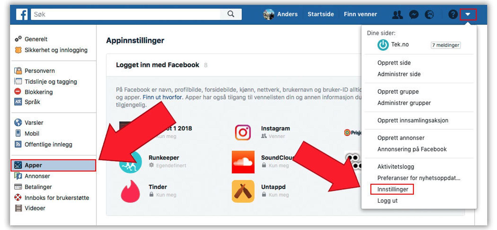 da5759ff Alle disse appene er koblet sammen med Facebook-profilen. Med på lasset  følger informasjon om deg, så slett de du uansett ikke bruker lenger.