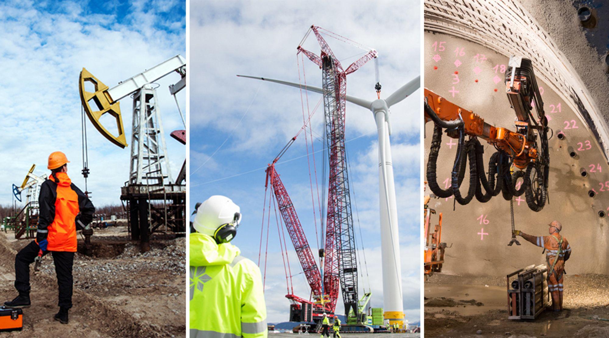 Petroleumsfag, fornybar energi og geologi er utdanninger som står seg også i framtiden, mener Nito og Tekna.