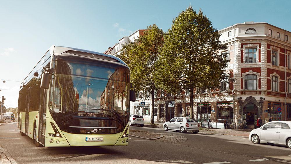 Seks slike Volvo 7900 Electric skal være i drift i Drammen om et år.