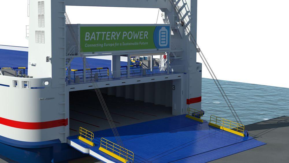 Stena Jutlandica vil i løpet av våren få installert 1 MWh batteripakke i container på værdekket akter. Planen er at Ro-pax-fergen skal manøvrere til og fra kai i både Göteborg og Frederikshavn på batterier, som lades i Sverige.