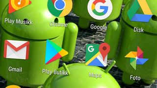 Google-apper på en norsk Android-mobil.