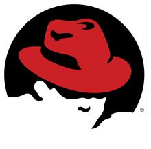 Shadowman-logoen til Red Hat.