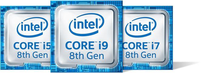 Intel Core i5, i7 og i9.