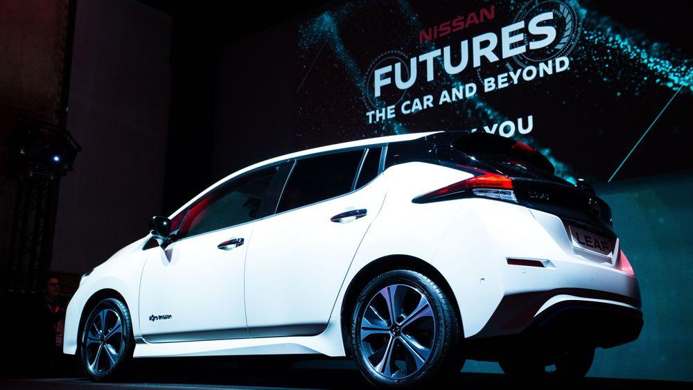 Nissans nye Leaf er svært populær. Bortimot én av seks nye biler i mars er av denne typen.