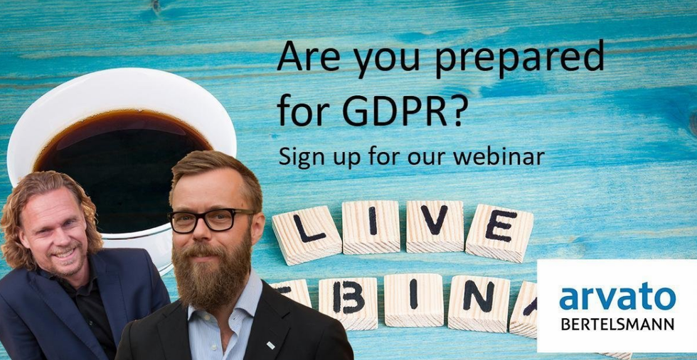 Webinar: GDPR - are you prepared?