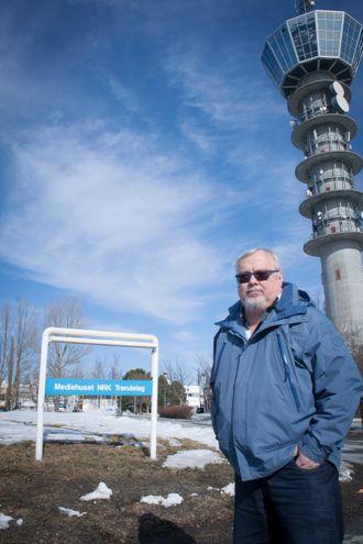 Journalist og programleder Tron Soot-Ryen i NRK - her fra sin arbeidsplass på Tyholt i Trondheim.