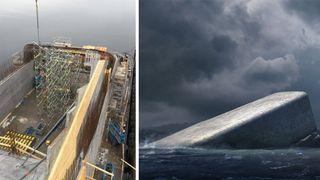 Se bildene fra Lindesnes: Her bygges verdens største undervannsrestaurant