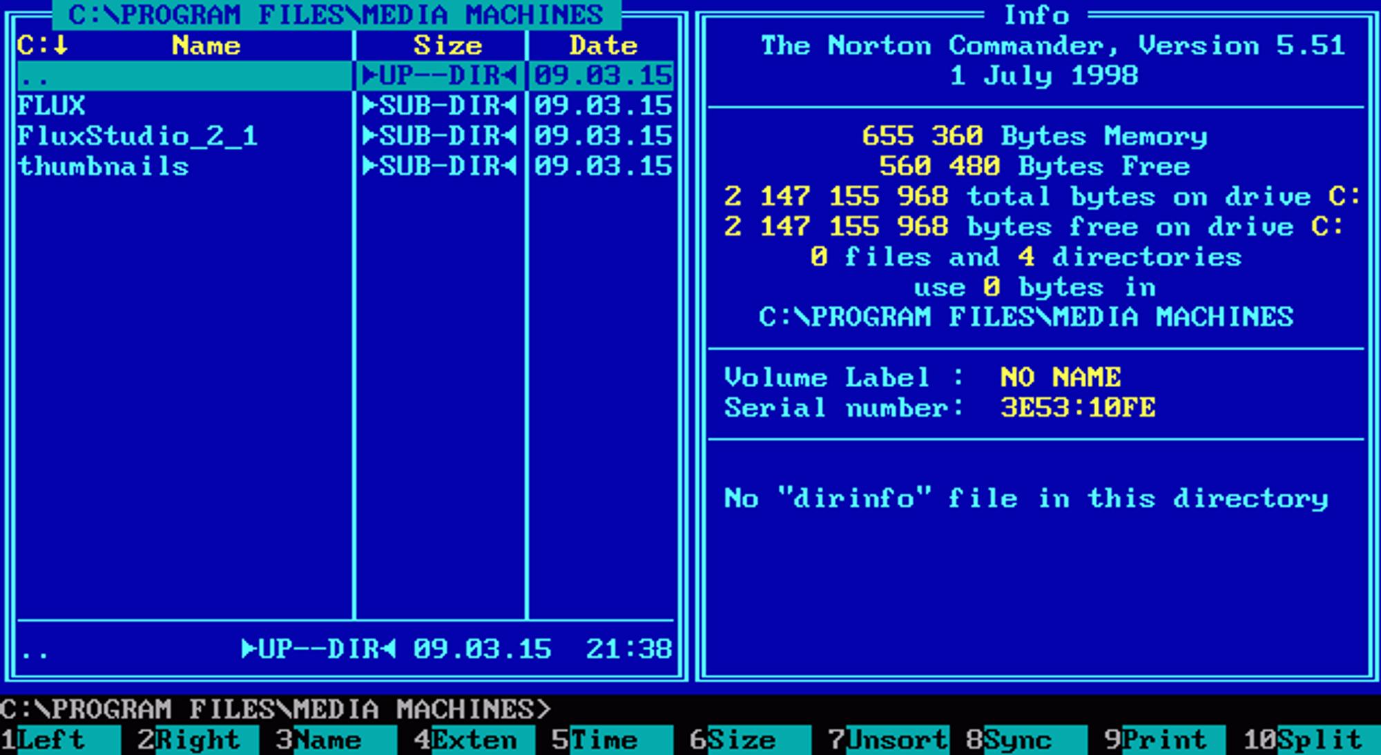 Norton Commander  v.5.51 var den siste utgaven av programvaren som ble utgitt til MS-DOS.