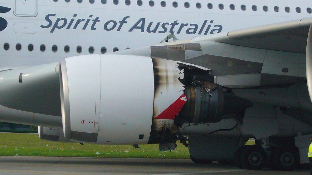 Slik så Rolls-Royce Trent 972-84-motoren ut etter nødlandingen.