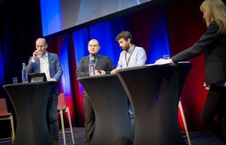 Knut Olav Åmås, Gurkan Ozturan, Matthew Caruana og programleder Hege Moe Eriksen