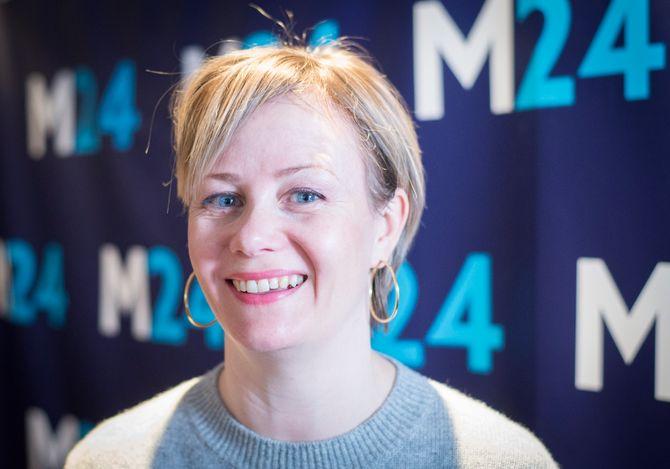 Programleder Sigrid Sollund i NRK - her fra vår prat under SKUP i 2018