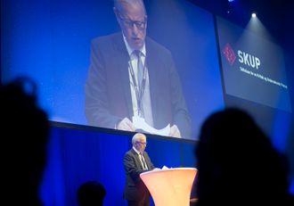 Juryleder Bernt Olufsen i SKUP - her fra konferansen i 2018.