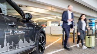 Autonom parkering ved Hamburg lufthavn.