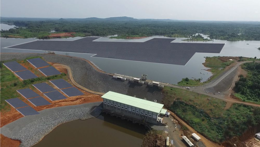 Slik kan kraftverket i Liberia bli seende ut. Fotomontasje med opphav fra Multiconsult og Ciel & Terre.