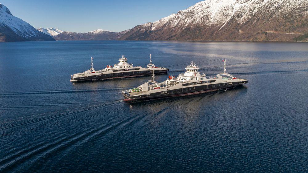 Fjord 1 har tatt i bruk de nye fergene Gloppefjord og Eidsfjord på E39  mellom Lote og Anda.