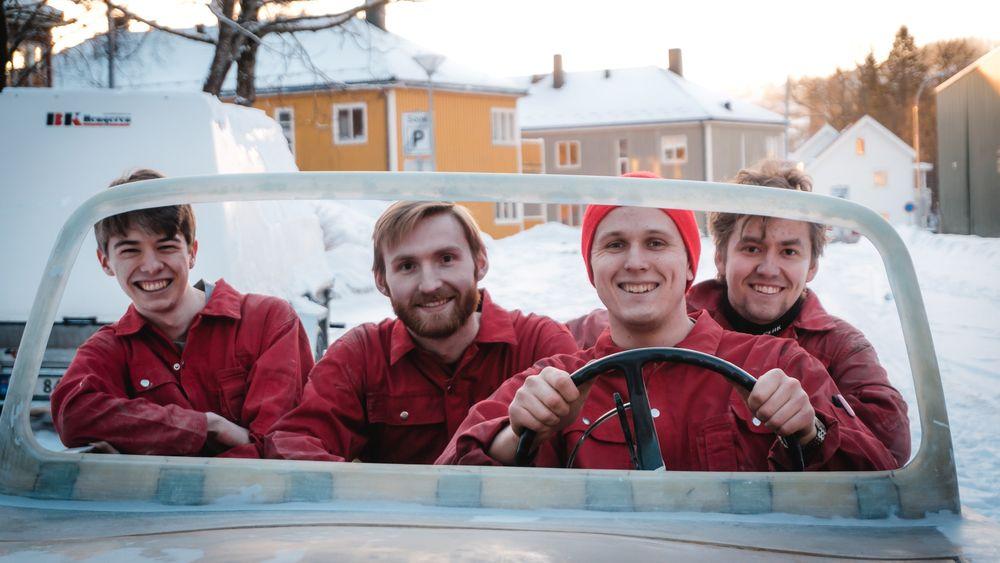 Simon Gåseby Gjerde (f.v), Tor Henry Dyer, Håvard Teigen og Harald Grøndahl.