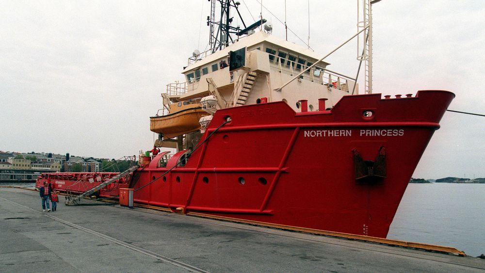 I 2017 hadde norske skip 125.000 anløp i norske og utenlandske havner. Her ligger oljeforsyningsfartøyet Northern Princess til kai i Stavanger. Foto: Halvard Alvik, NTB SCANPIX.
