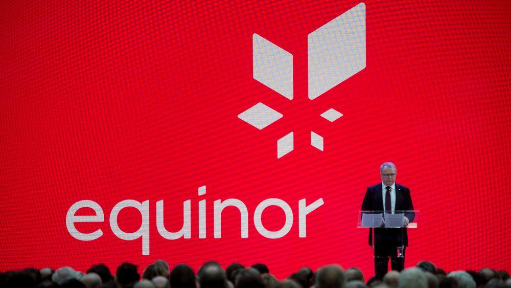 Statoil bytter navn til Equinor. Konsernsjef Eldar Sætre presenterer det nye navnet på allmennmøte i Stavanger i mars.