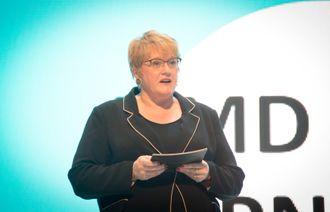 Kulturminister Trine Skei Grande (V) under Nordiske mediedager i 2018.