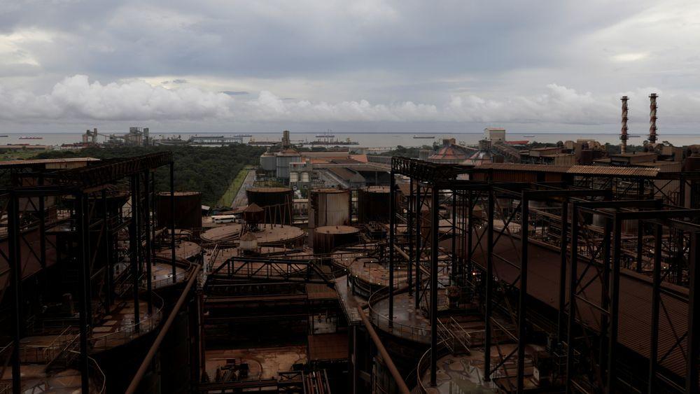 Oversikt over aluminiums-raffineriet Hydro Alunorte i Brasil.