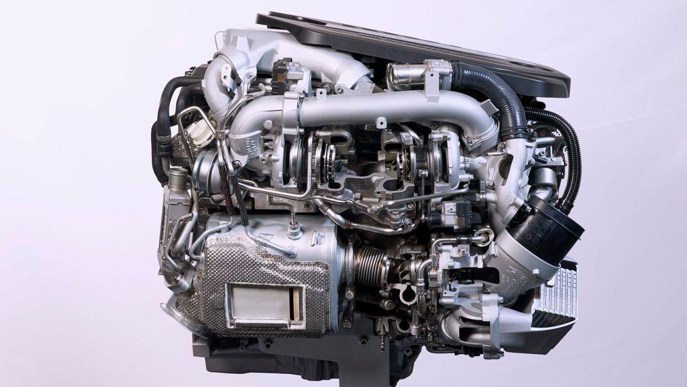 Sekssylindret dieselmotor fra BMW.