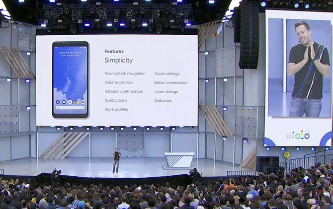 Noen av nyhetene i Android P som Dave Burke fortalte kort om under kveldens første hovedtale.