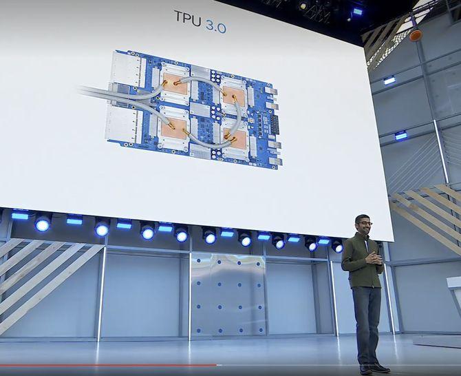 Sundar Pichai fortalte om TPU 3.0 under Google I/O 2018.