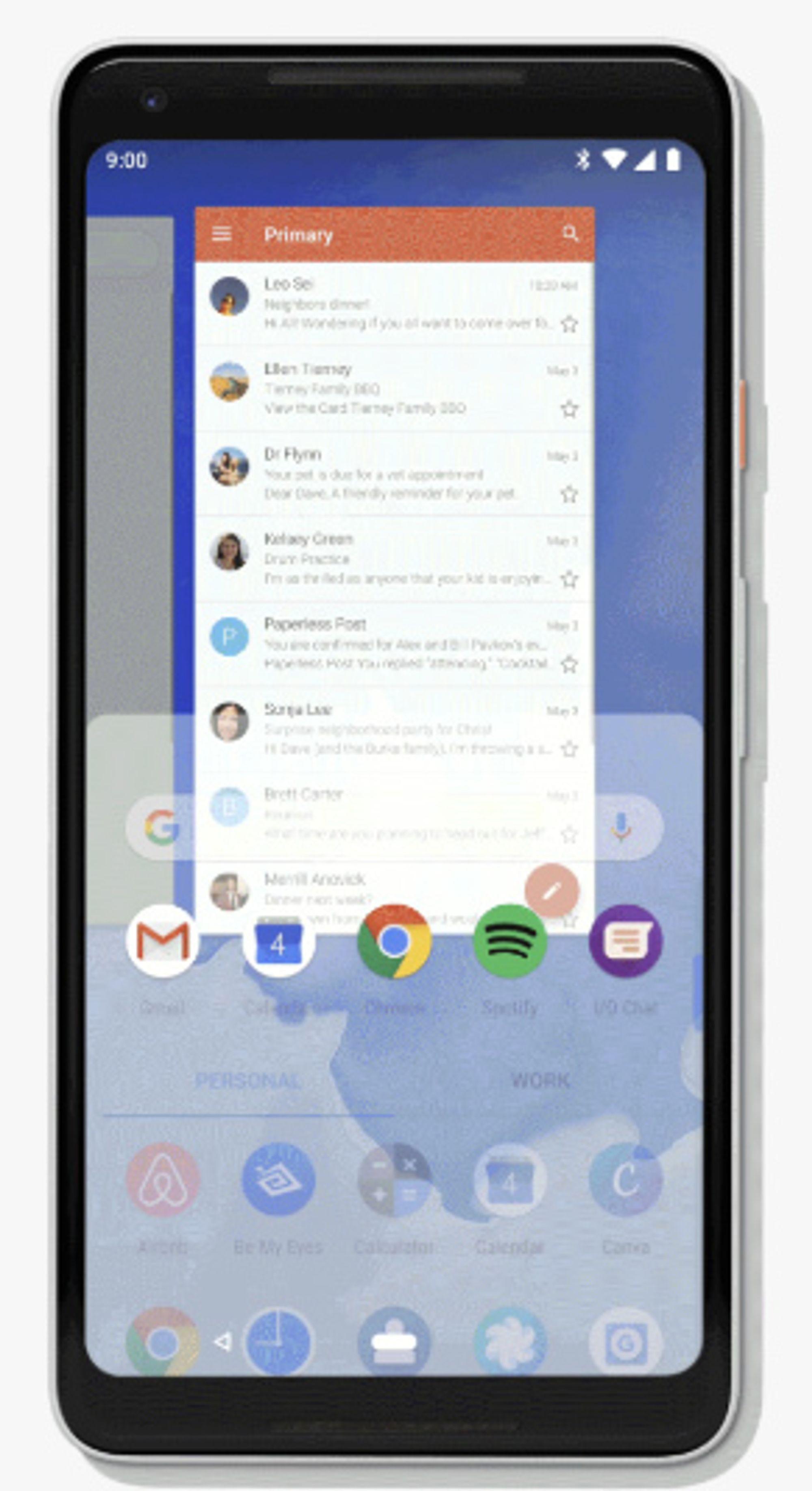 Den nye systemnavigasjonen i Android P dreier seg kun om hjemknappen nederst i midten.