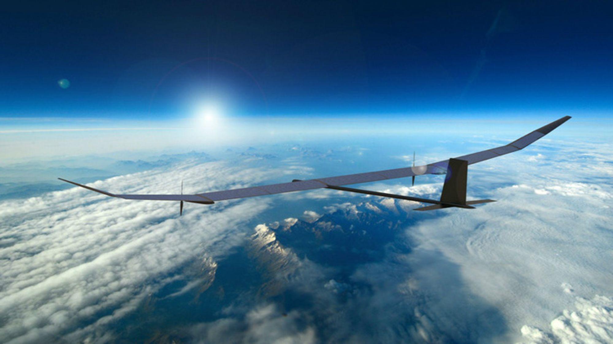 Det soldrevne, ubemannede luftfartøyet Phasa-35, slik den kan bli seende ut.