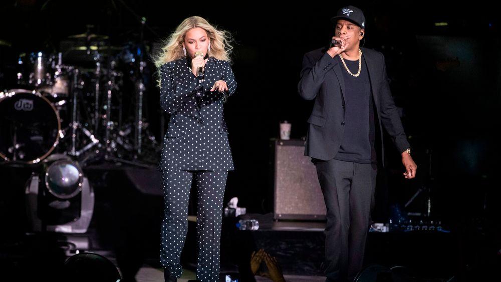 Beyoncé og ektemannen Jay Z. Sistnevnte eier strømmeselskapet Tidal og kona er medeier.