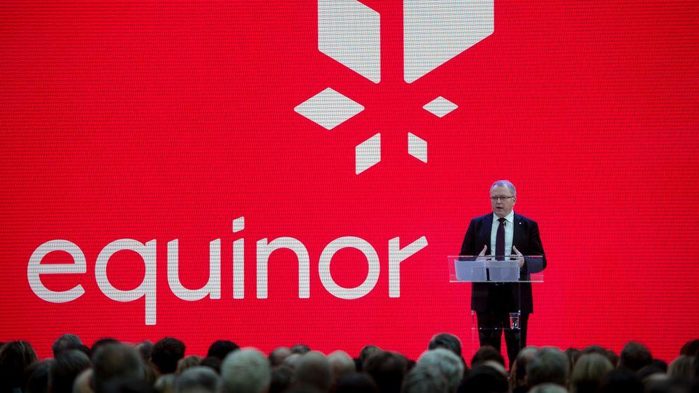 Statoils konsernsjef Eldar Sætre presenterte det nye navnet Equinor i Stavanger 15. mars i år.
