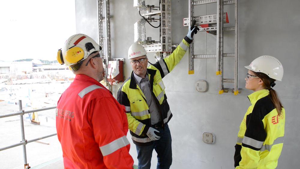 Kortreist utstyr. Øglænd System designer og produserer blant annet opphengssystemer til bruk i oljeindustrien. Her fra leveranse av opphengssystemer til bruk på Johan Sverderup.