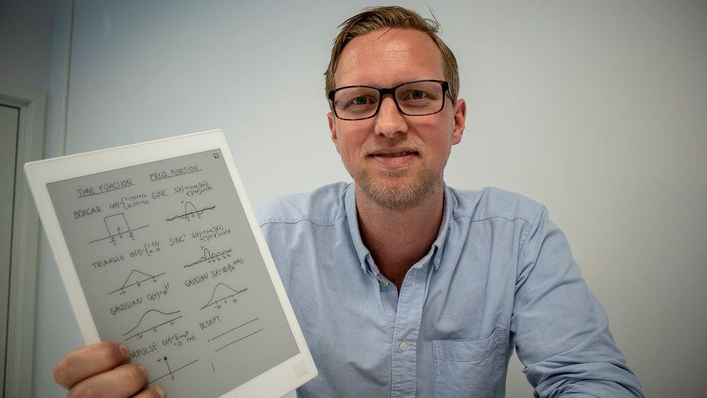 Papirløst: Kommunikasjonsdirektør i reMarkable, Henrik Faller tror det norsk selskapet  kommer til å vokse mye i årene som kommer.