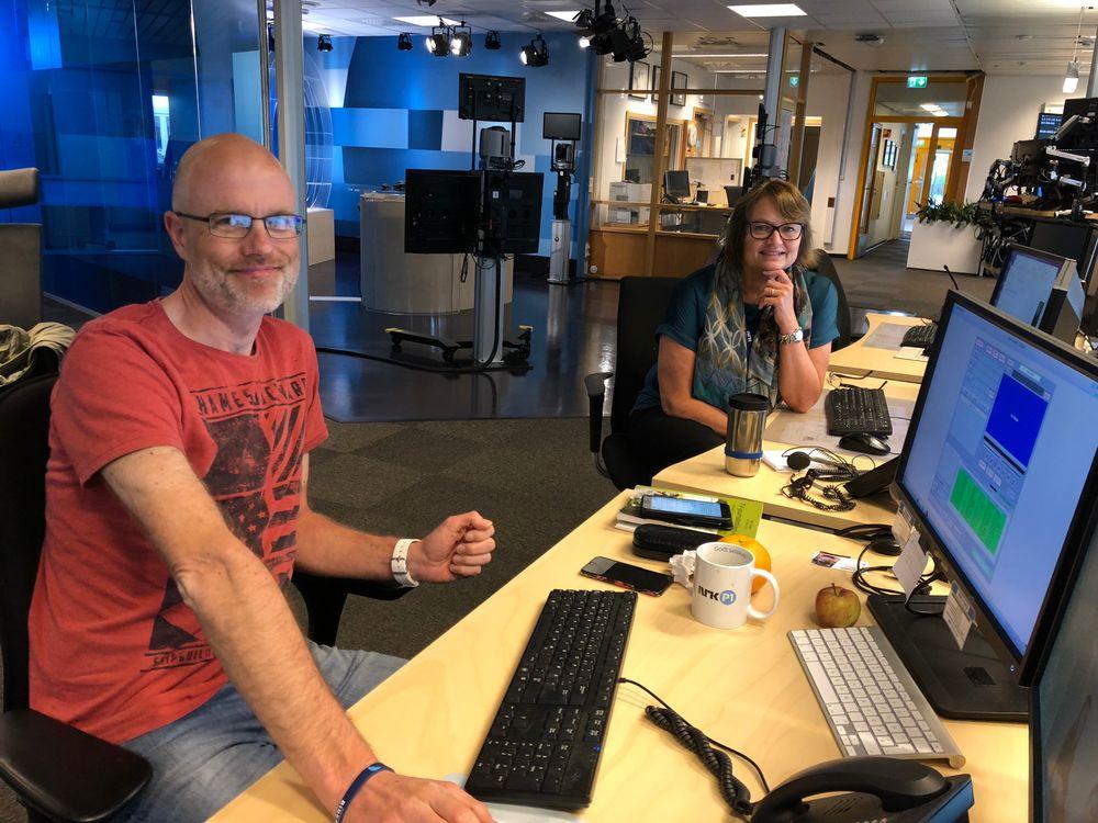 Redaksjonssjef Joar Elgaen Og Distriktsredaktor Merete Verstad Er Pa Plass I Lokalene Til Nrk Trondelag