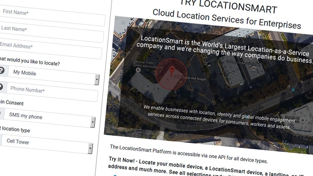 Locationsmarts demoside er nå tatt ned.