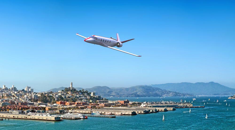 Elektrisk over San Fransisco: Om få år vil JetSuit fly mellom små byer i USA og beboere i San Fransisco kan få sitt første glimt av et elektrisk fly.