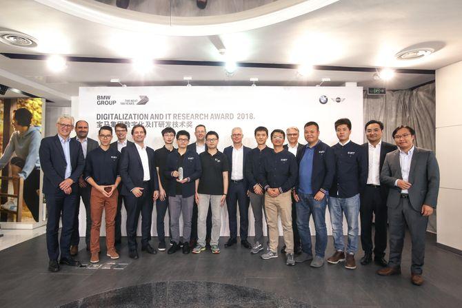 Fra utdelingen av prisen BMW Group Digitalization and IT Research Award 2018, som gikk til Tencent Keen Security Lab.