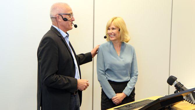 Anne Lindboe ny administrerende direktør i PBL. Arild M. Olsen.