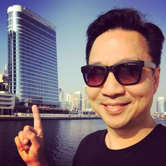 """James Law er teknologiarkitekten som har designet """"The Pad""""-bygningen i Dubai."""