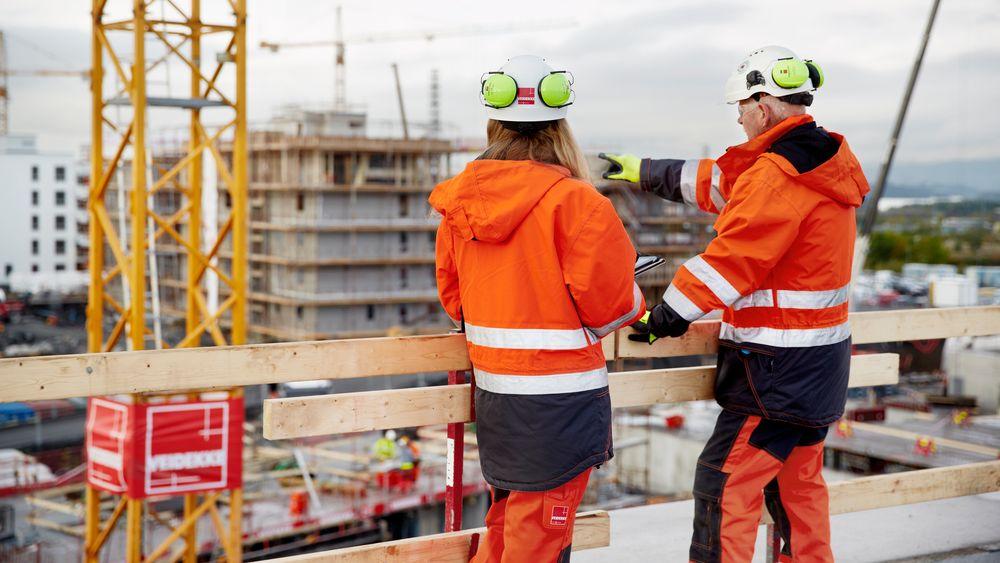 Veidekke Entreprenør har flest ansatte i byggebransjen.
